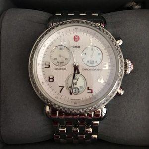 Brand New Michele Silver CSX Watch